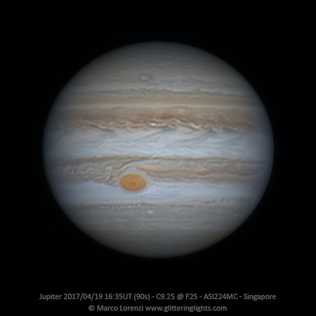 Jupiter April 19, 2017 - 16:35 UT