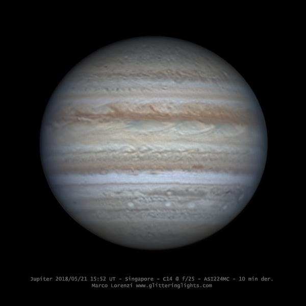 Jupiter on May 21, 2018