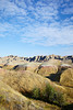 The layered hills in Badlands National Park, South Dakota, USA.