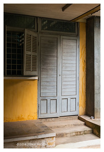 Door and Yellow Wall