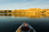 One morning I launched the kayak before sunrise on Lake Mohave. After the sun rose, I continued to paddle around Telephone Cove. Off in the distance you can see my campsite and the wonderful hills of the Lake Mead National Recreation Area, Nevada, USA.