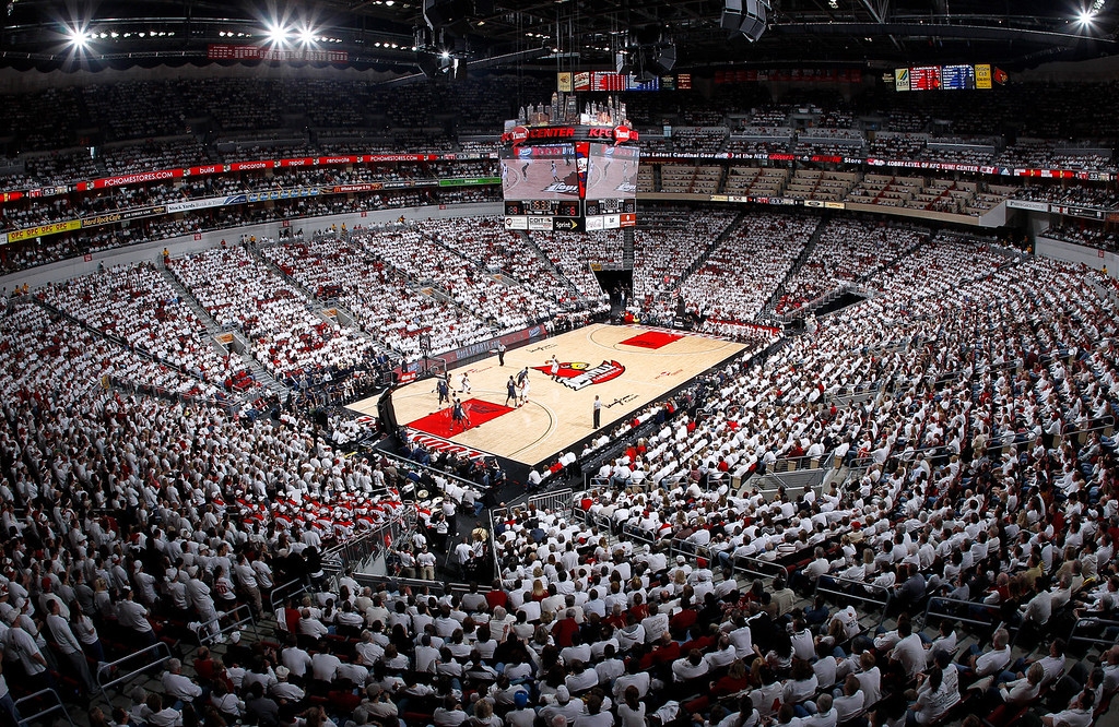 Louisville basketball White Out game.