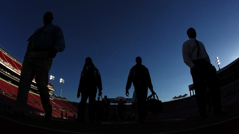 Louisville Football entering the stadium on game day
