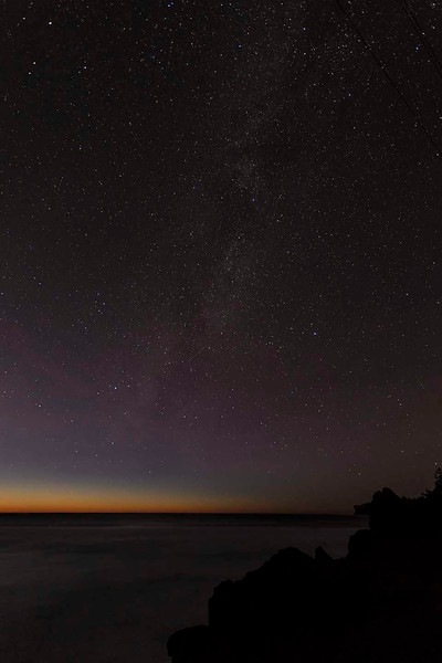 Stars over a Pacific Sunset