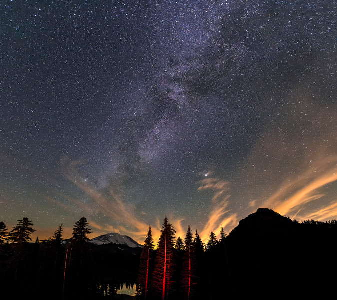 Milky Way over Mt Rainier, Washington