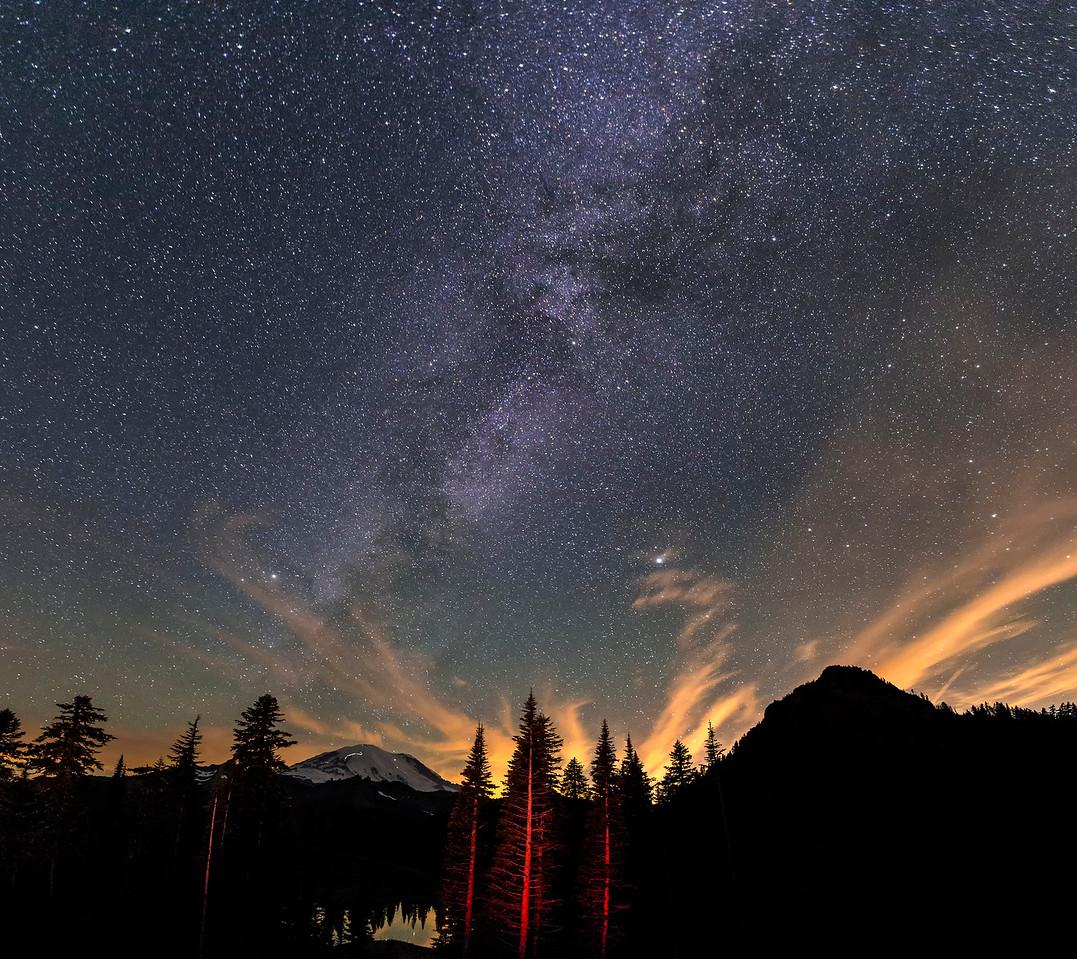 Milky Way over Mt Rainier, Washington
