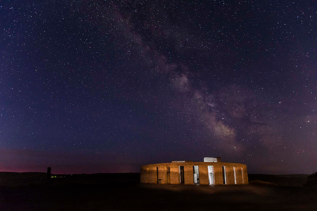 Milky Way over Stonehenge Memorial in Maryhill, WA