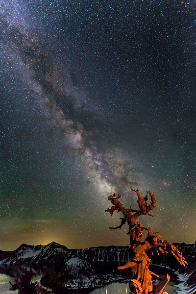 Milky Way over Crater Lake National Park, Oregon