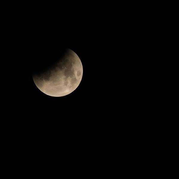 Earths Shadow on the moon