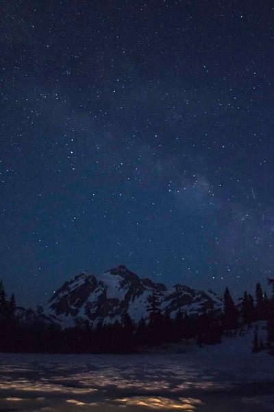Milky Way over Mt Shuksan, Washington