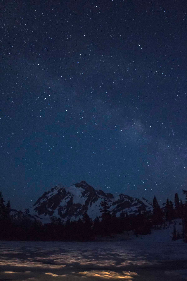 Milky Way over Mt Shuksan, Washington