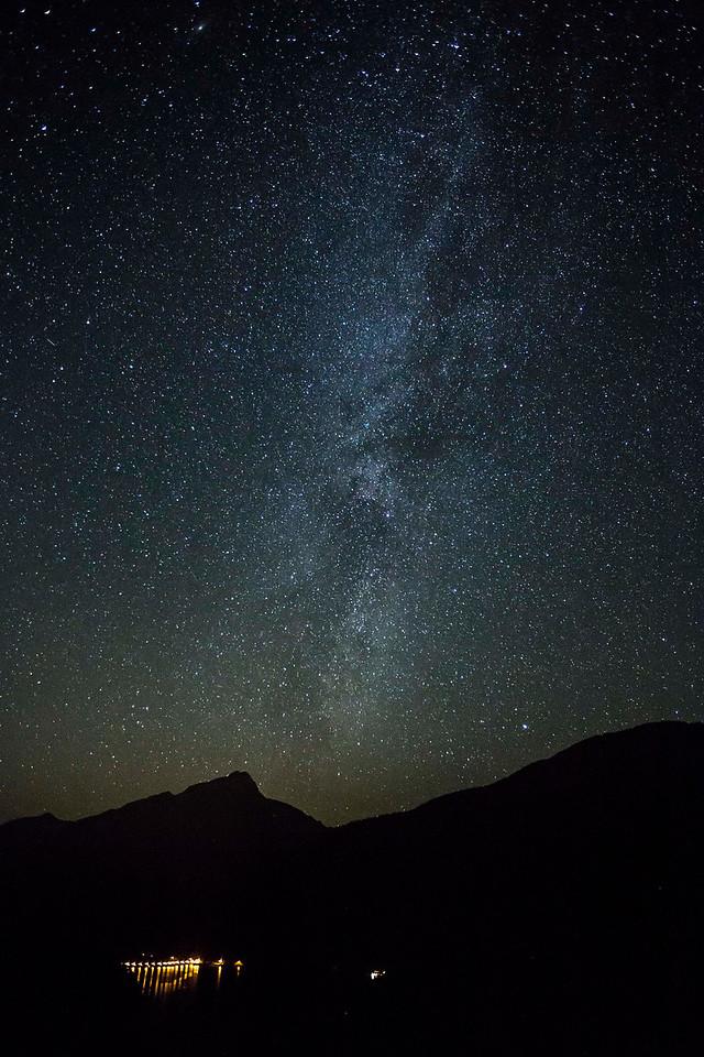 Milky Way over Diablo Dam, North Cascades NP, Washington