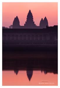 Ankor Wat Sunrise, Siem Reap, Cambodia