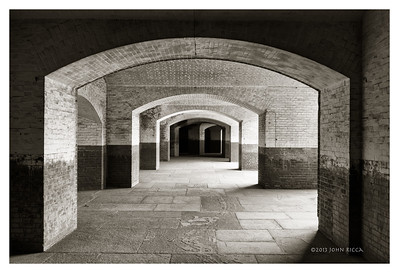 Fort Point Arches B&W
