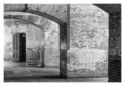 Fort Point Door B&W