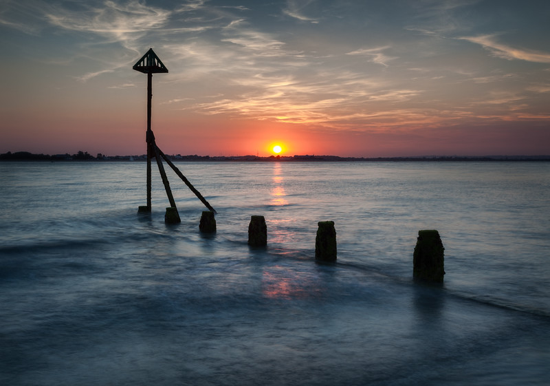 Sunset at West Wittering, West Sussex