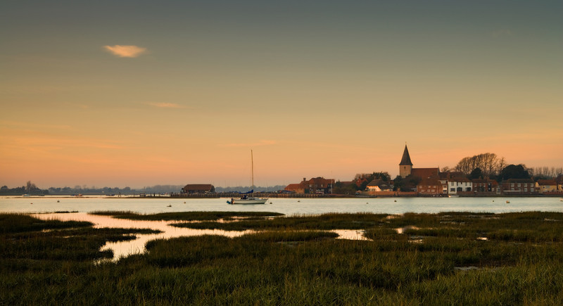 Bosham sunset, Sussex, England