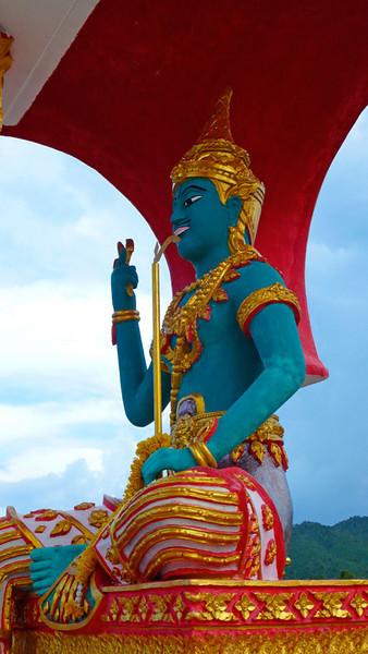 Blue Buddha at Temple Plai Laem Koh Samui, Thailand