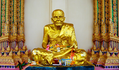 Seated Holy Man Statue at Temple Plai Laem Koh Samui, Thailand