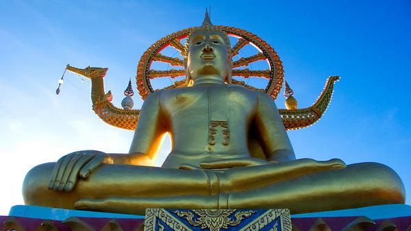 Buddha at Temple Plai Laem Koh Samui, Thailand
