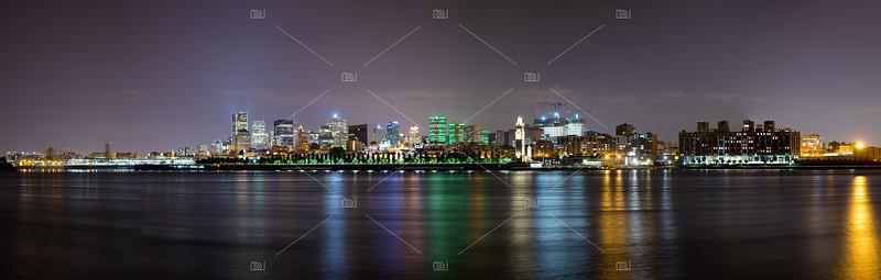 Montreal night panorama