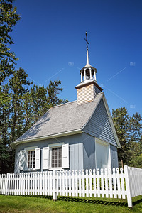 Chapel with picket fence
