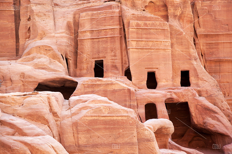 Cave dwellings, Petra.