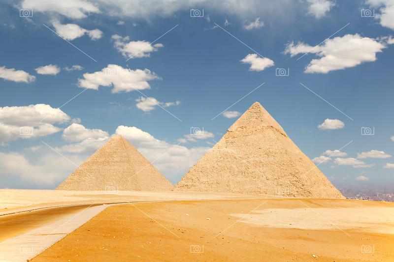 Two pyramids, Giza