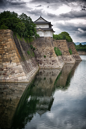 Osaka Castle walls and moat
