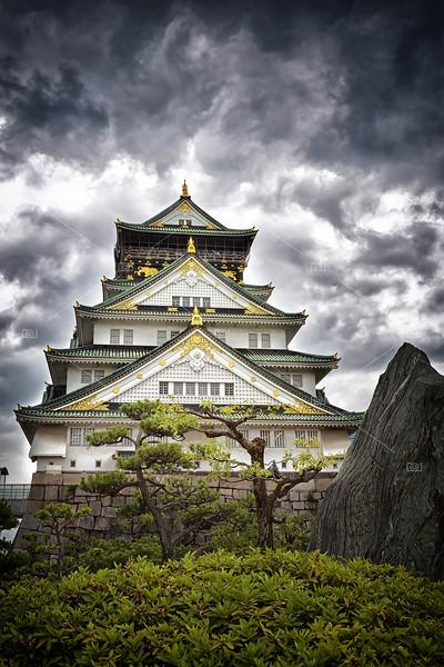 Storm over Osaka Castle