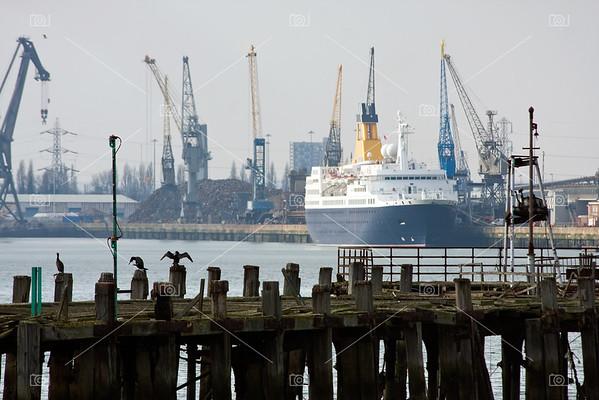 Southampton old pier and docks