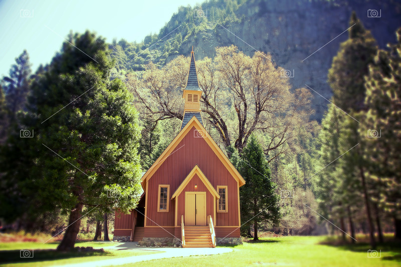 Yosemite Valley Chapel lomo