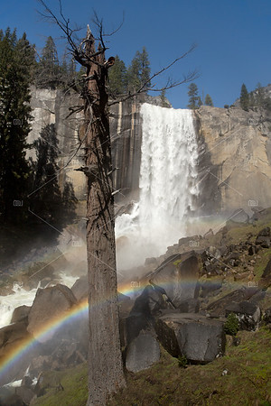 Vernal Falls with rainbow