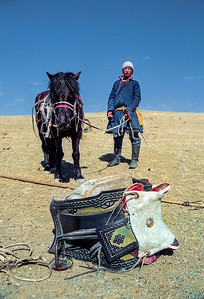 Mongolian saddle.
