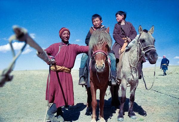 Mongolian horsemen