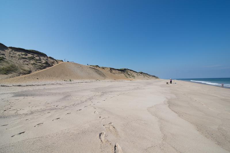 Impressive beach topography