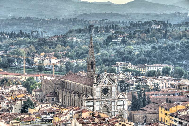 Santa Croce from Brunelleschi's Dome