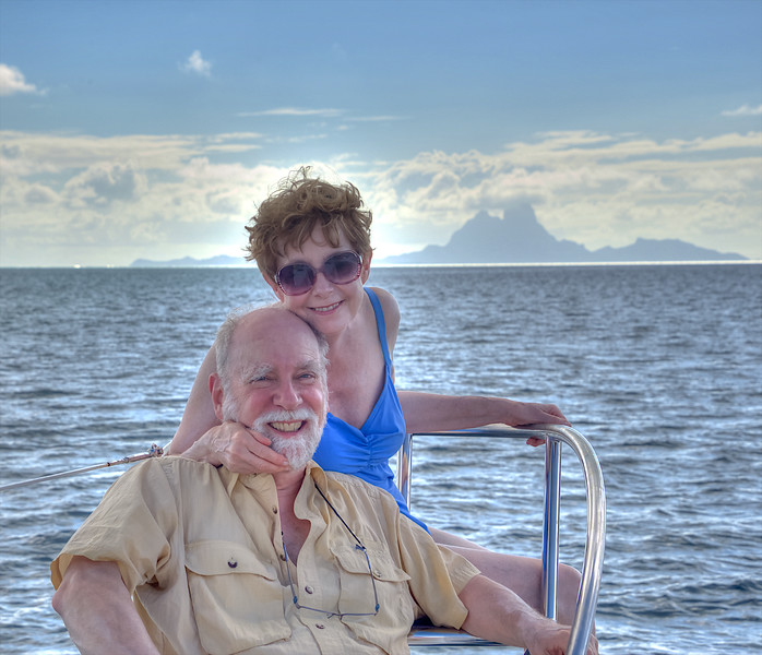 Faithie and me with Bora Bora in the background