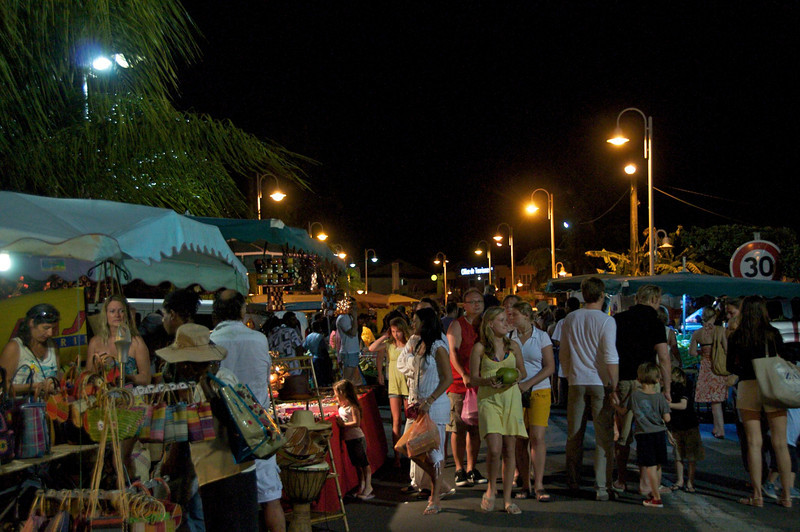 Evening market in Saint-François