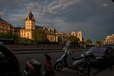 Late afternoon, Île de la Cité from the Quai des Grands Augustins