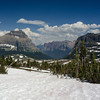 WAa680 - Snowfield, Heavy Runner Mtn and Matahpi Mtn, Glacier NP, Montana