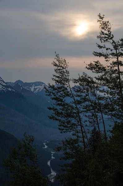 WAa1205 - Sunset and McDonald Creek, Glacier NP, Montana