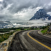 WAa1423 - Going To The Sun Road and Clements Mtn, Logan Pass, Glacier NP, Montana