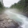 WAa1275 - Fog on McDonald Creek, Glacier NP, Montana
