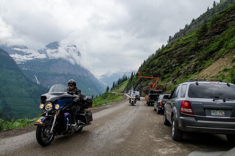 WAa1453 - Traffic Jam, Going to the Sun Road, Glacier NP, Montana