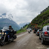WAa1453 - Traffic Jam, Going to the Sun Road, Glacier NP, Montana