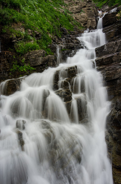WAa1189 - Waterfall, Going To The Sun Road, Glacier NP, Montana