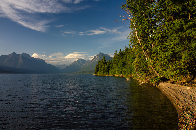 WAa1471 - Lake McDonald at Sunset, Glacier NP, Montana
