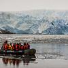 PB271 Trekkers in Zodiac from Via Australis Cruise Ship, Almirantazgo Bay, Patagonia, Chile