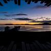 WBb2118 Sunrise over Boat Dock, Singular Patagonia (Puerto Bories Hotel), Puerto Natales, Last Hope Sound, Chile